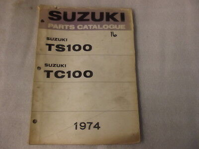 Suzuki Ts100 Tc100   Parts Catalogue  1974 16