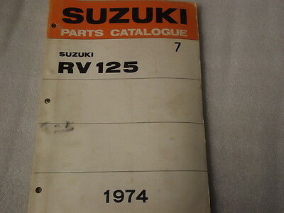 Suzuki Rv125  Parts Catalogue  1974  7