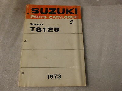 Suzuki Ts125 Parts Catalogue  1973   5