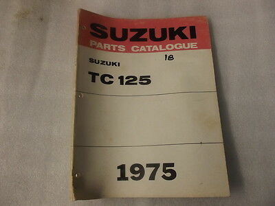 Suzuki Tc125    Parts Catalogue  1975  18