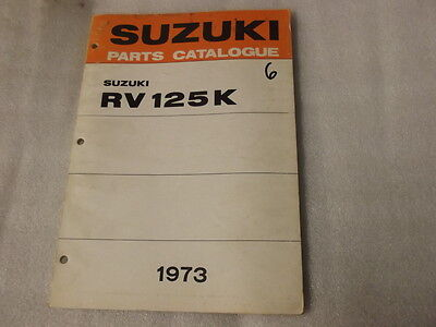 Suzuki Rv125K  Parts Catalogue  1973   6