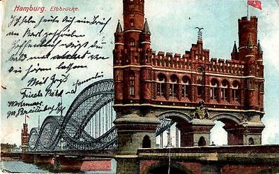 Hamburg, Germany - Amazing bridge of Hamburg - Elbbrucke - in 1919
