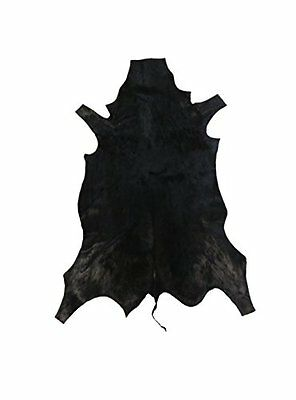 African leather carpet gazelle. Dyed black. Size: 43 x 28 inches. 100% Natural.