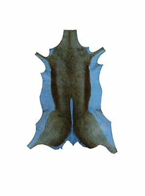 African leather carpet gazelle. Dyed blue. Size: 43 x 28 inches. 100% Natural.