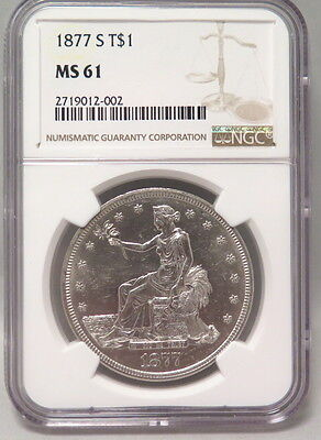 1877-S Trade Silver Dollar (Ngc Ms-61)