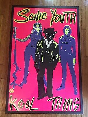 Sonic Youth Kool Thing Tannis Root Vintage UNFRAMED Poster EMMA PEEL