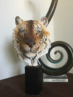 Tiger head bust beautiful home decor statue figure sculpture. Piece Of Art. NEW