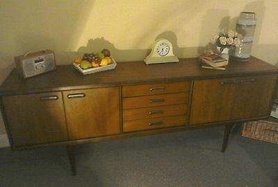 Outstanding Rare 7Ft Mid Century Younger Teak Sideboard Retro Danish