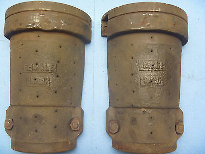 2 Piece Cast Iron Foundry Obsolete Glass Incandescant Light Bulb Mold
