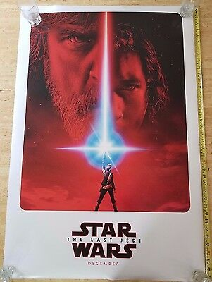 STAR WARS - The Last Jedi Authentic Teaser Original DS Movie Poster 27x40 MINT