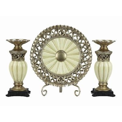 New Juliana Collection 4 Pc Charger, Stand & 2 Candlestick Set