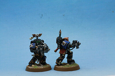 Warhammer 40K Ultra  Space Marines x 2 painted miniatures