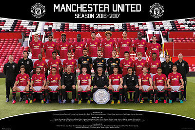 Manchester United FC Poster - Team16/17 - New Man Utd Football poster SP1389