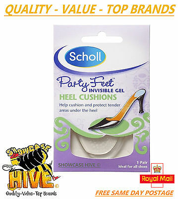 Scholl Party Feet Invisible Gel Heel Cushions – 1 Pair