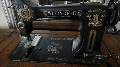 "Rare Antique Early 1900""s {1903} Windsor B Sewing Machine (only - stand removed)"