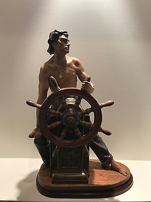 Lladro Stormy Sea Sailor - rare, signed, large piece