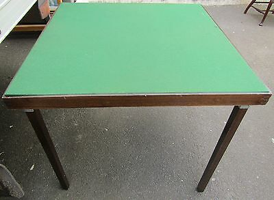 Vintage folding card table, bridge, perfect for board games, painting work table