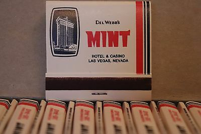 Box of 50 NEW The MINT Del Webb Hotel Casino Las Vegas Nevada Matchbook Matches