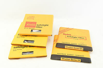 Kodak 5 1/2'' Safelight Filters Set of 5 Wratten OC 10 5D7 NOS