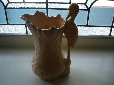 ANTIQUE VINTAGE SylvaC CHINA CERAMIC PORCELAIN STORK HERON LILY VASE