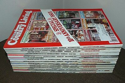 Lot of 12 Vintage Issues Country Living Magazine December 1987  - November 1988