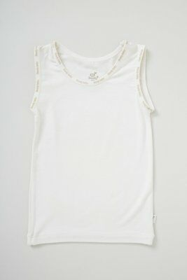 Boody Baby Bamboo Eco Wear Singlet in Chalk - Choose Size Boody