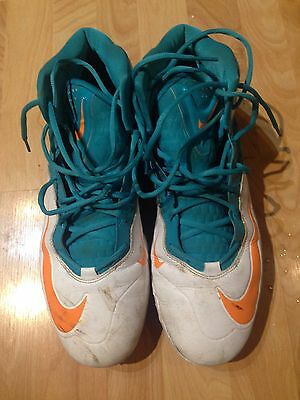 Mike Pouncey #51 Miami Dolphins Game Used Worn Cleats Custom Nike PE