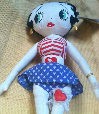 Betty Boop All American Americana 4Th Of July Betty Boop Plush Doll Vintage 1999