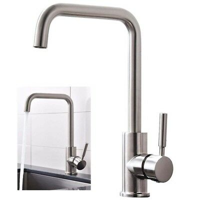 Modern Stainless Steel Brushed Nickel Single Handle Kitchen Bar Sink