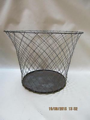 Vintage Industrial Bar Bee Steam Punk Waste Basket Garbage Can Crinkle Wire Rare