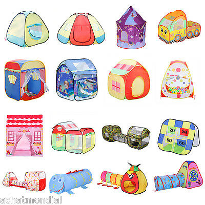 Kids Toddlers Pop-up Play Tent Folding Playhouse Tunnel Indoor Outdoor Toys Gift