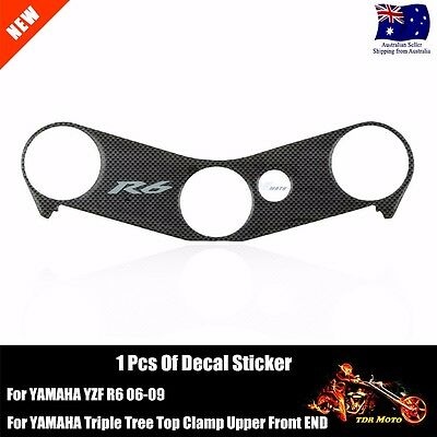 1x Decal Pad Triple Tree Top Clamp Upper Front End for Yamaha YZF-R6 R6 2007