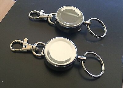 2x 60cm Stainless Steal Wire Recoil Retractable Lanyard Fishing Kayak Camping