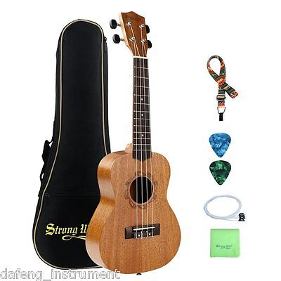 21 Inch Mahogany Soprano Ukulele Hawaii Ukulele for Beginner Starter Kit Bundle