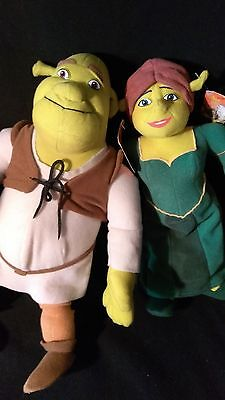 "Shrek 2 SHREK (15"") and FIONA (13"") Plush Set"