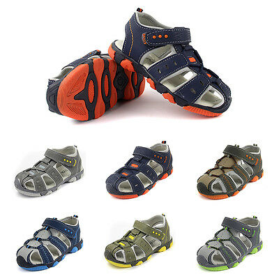 Kids Leather Sandals Boys Sports Sandals Summer Casual Shoes Size 6 7 8 9 10