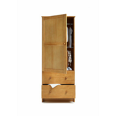 Obaby Single Nursery Wardrobe - Country Pine Baby Nursery Furniture