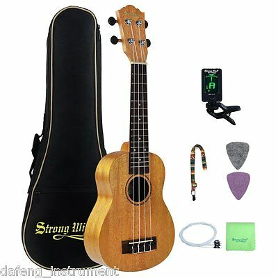 23 Inch Mahogany Concert Ukulele Hawaii Ukulele for Beginner Starter Kit Bundle