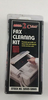 Acco 2 Clean Fax Cleaning Kit Stock No 50505-50665