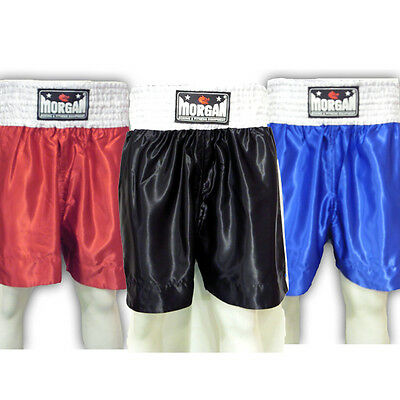 MORGAN plain style satin boxing shorts - fight night competition amateur league