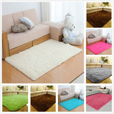 Fluffy Rug Anti-Slip Shaggy Rug Dining Room Bedroom Carpet Floor Mat 140*70cm