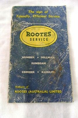 Rootes Service Authorised Group Dealers Book 1964