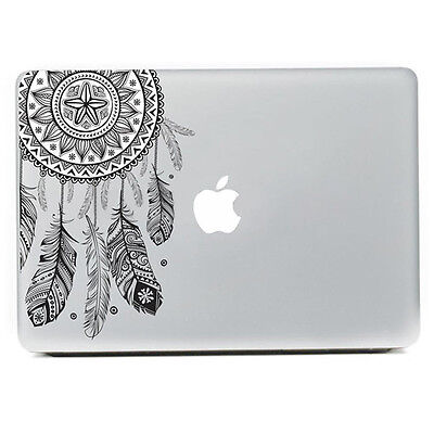 Retro Feather Art Pattern Vinyl Decal Black Sticker Skin For Macbook Air Laptop