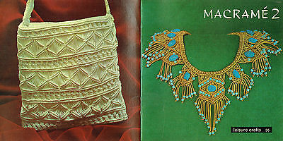Macrame 2 ~ Vintage Macrame` Patterns ~ Great Little Vintage (1977) Book