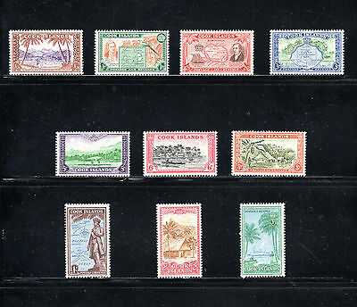 Cook Islands 1949 - 1961 pictorial issue of 10 SG 150/9 MH
