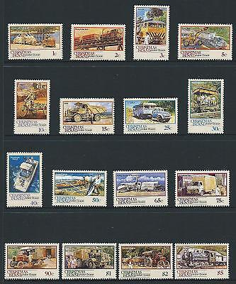 1990 CHRISTMAS ISLAND Transport Set MNH (SG 287-302)