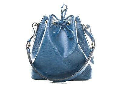 Authentic Louis Vuitton Toledo Blue Epi Petit Noe M44105