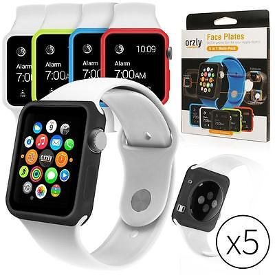 Orzly Interchangeable Silicon Gel Covers for Apple Watch 38 mm Pack of 5...