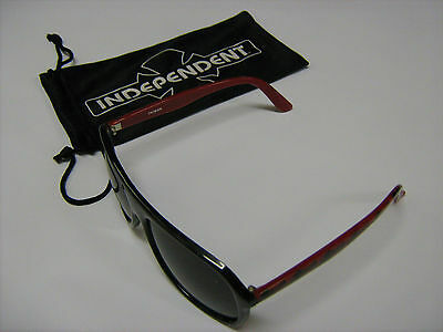New Sunglasses Sk8 Black And Red Glasses With Soft Case