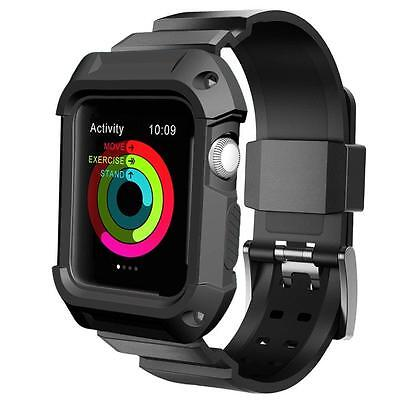 Apple Watch Case Series 2 1, UMTELE Rugged Protective with Strap Bands for 1...